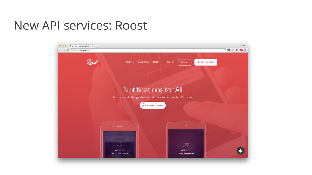 New API services: Roost
