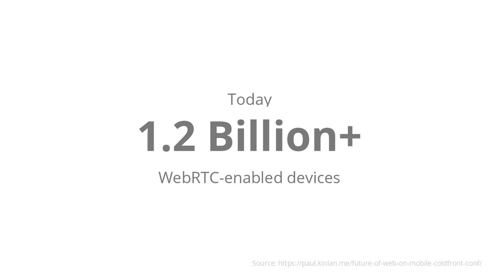 Today 1.2 Billion+ WebRTC-enabled devices Sourc...