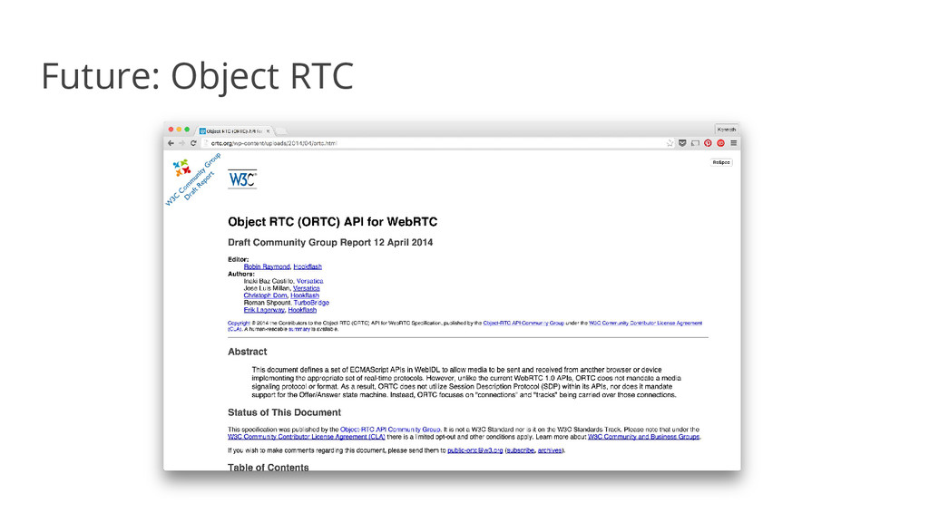 Future: Object RTC