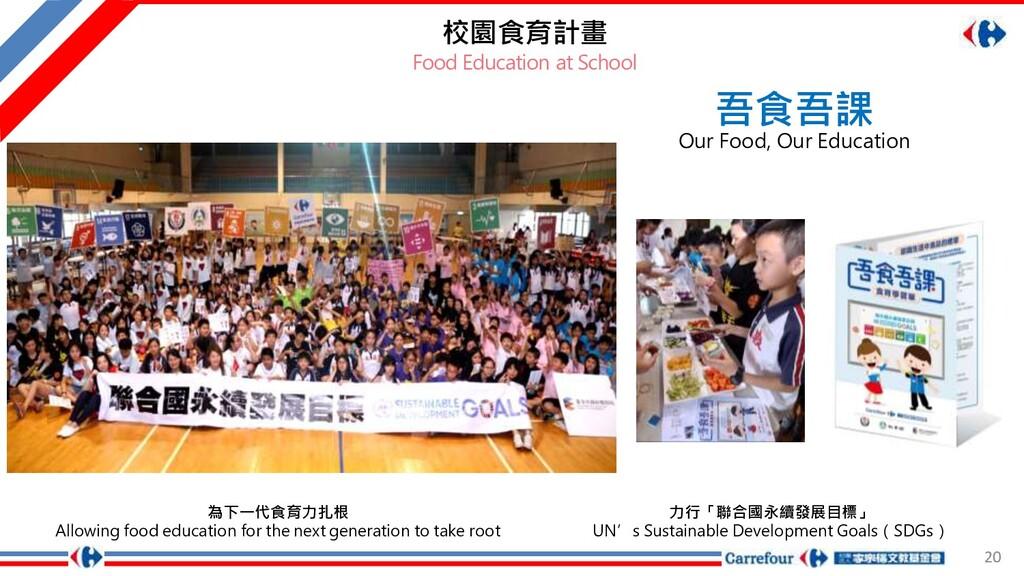 20 校園食育計畫 Food Education at School 吾食吾課 Our Foo...