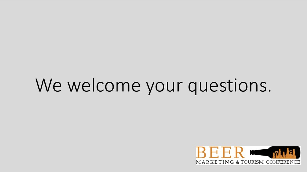 We welcome your questions.
