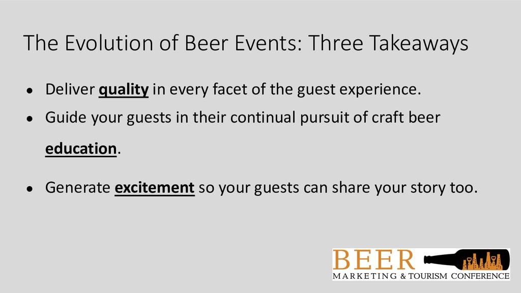 The Evolution of Beer Events: Three Takeaways ●...
