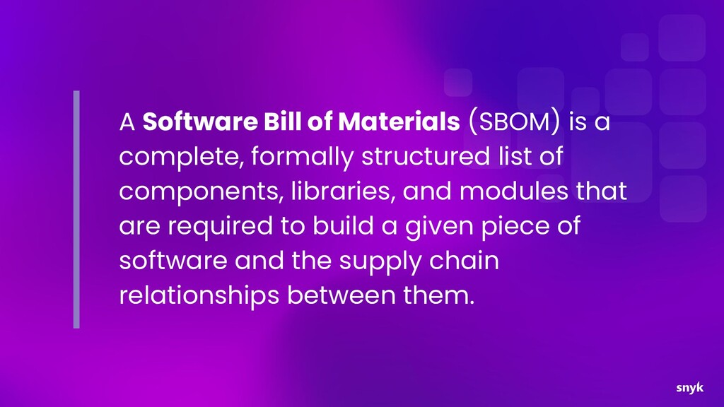 A Software Bill of Materials (SBOM) is a comple...