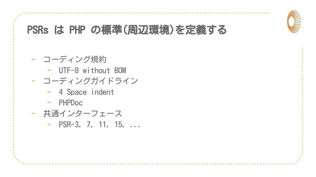 PSRs は PHP の標準(周辺環境)を定義する - コーディング規約 - UTF-8 wi...