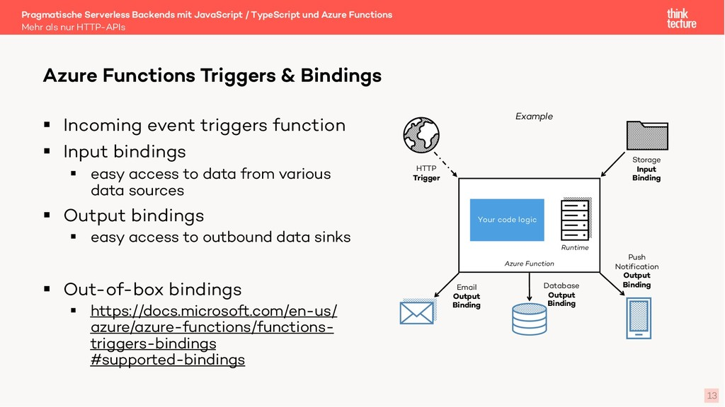 13 § Incoming event triggers function § Input b...