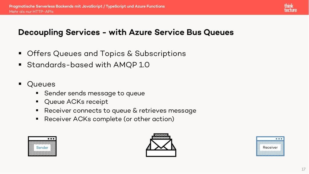 17 Sender § Offers Queues and Topics & Subscrip...