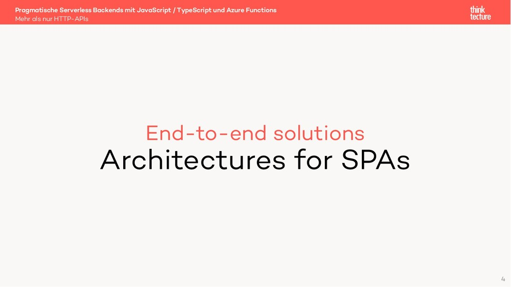 End-to-end solutions Architectures for SPAs Meh...