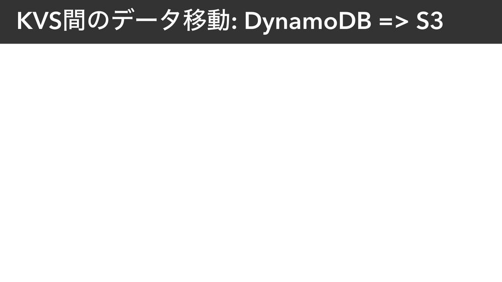 KVSؒͷσʔλҠಈ: DynamoDB => S3