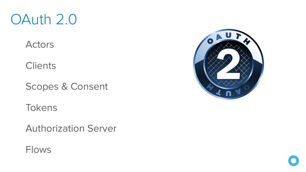 OAuth 2.0 Actors Clients Scopes & Consent Token...