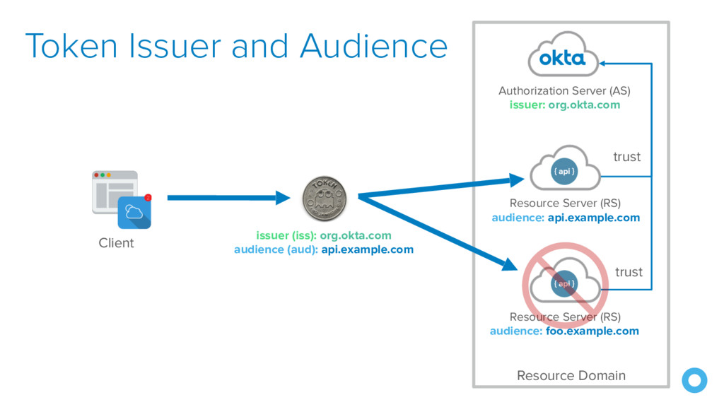 Token Issuer and Audience Resource Server (RS) ...
