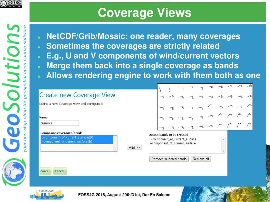 Coverage Views ⚫ NetCDF/Grib/Mosaic: one reader...