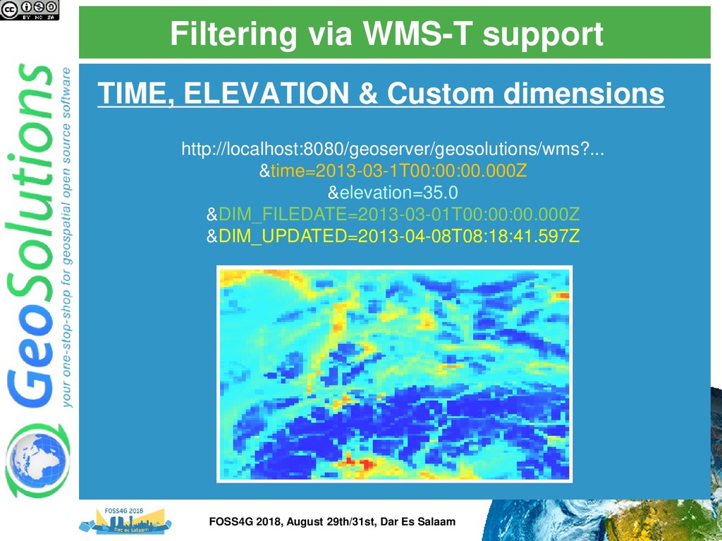 Filtering via WMS-T support TIME, ELEVATION & C...