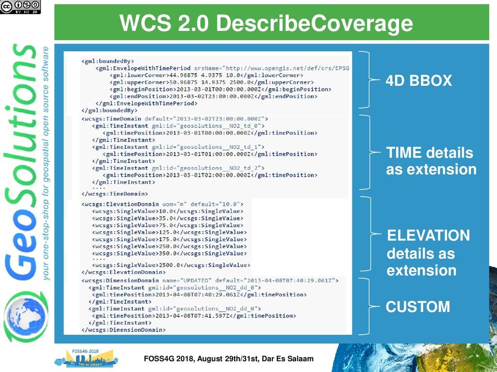 WCS 2.0 DescribeCoverage 4D BBOX TIME details a...
