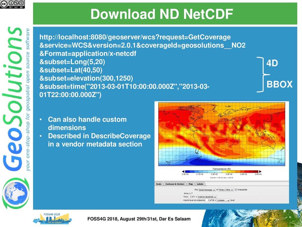 Download ND NetCDF http://localhost:8080/geoser...