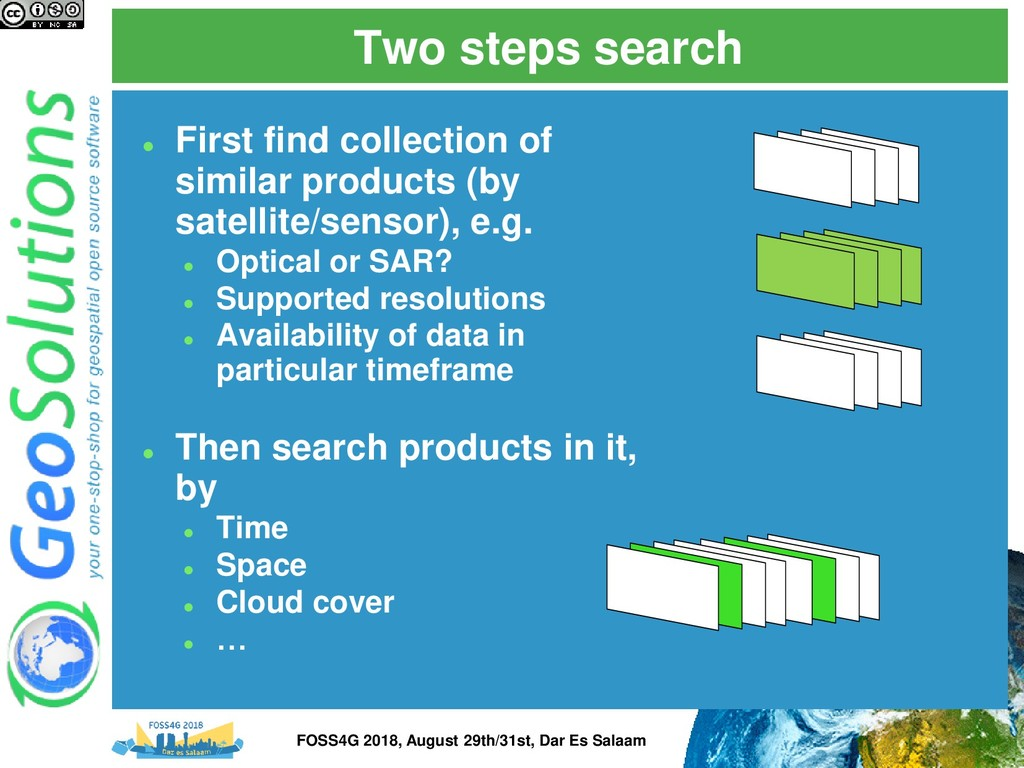 Two steps search ⚫ First find collection of sim...