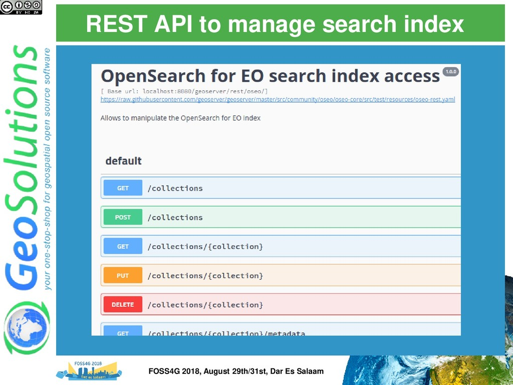 REST API to manage search index Swagger documen...