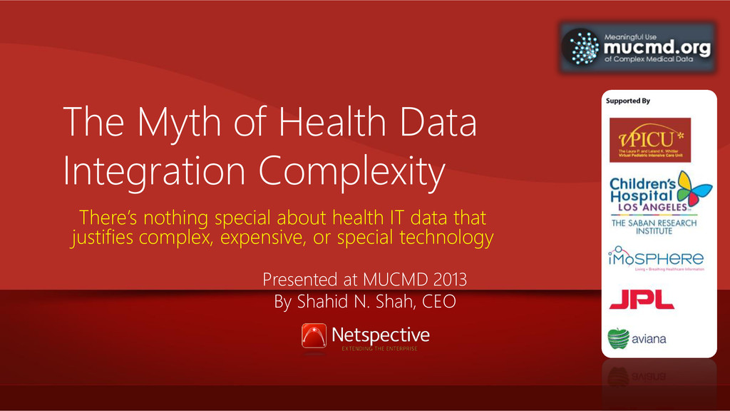 The Myth of Health Data Integration Complexity ...