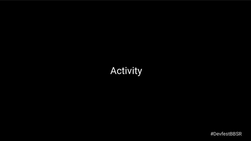 Activity #DevfestBBSR