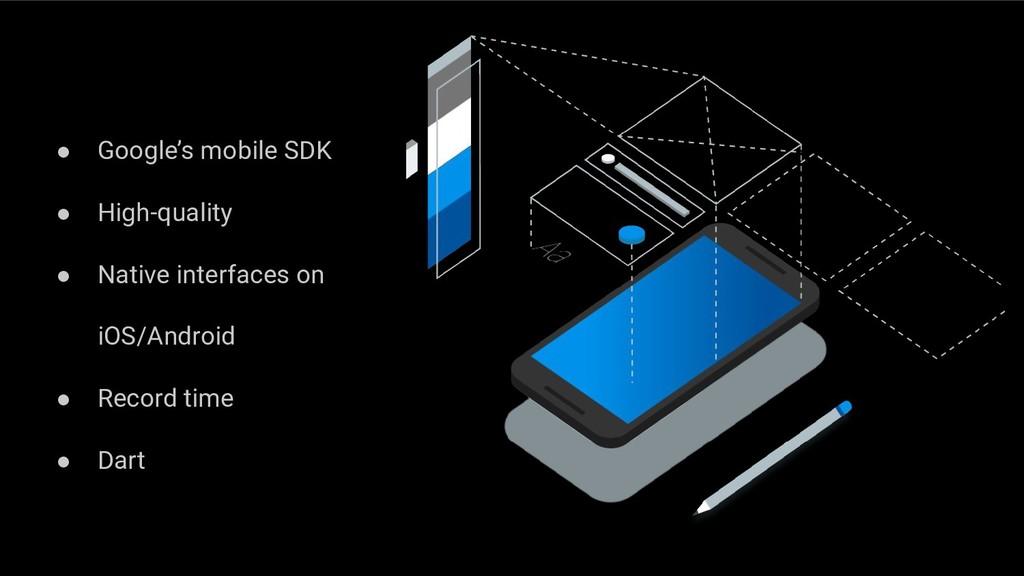 ● Google's mobile SDK ● High-quality ● Native i...