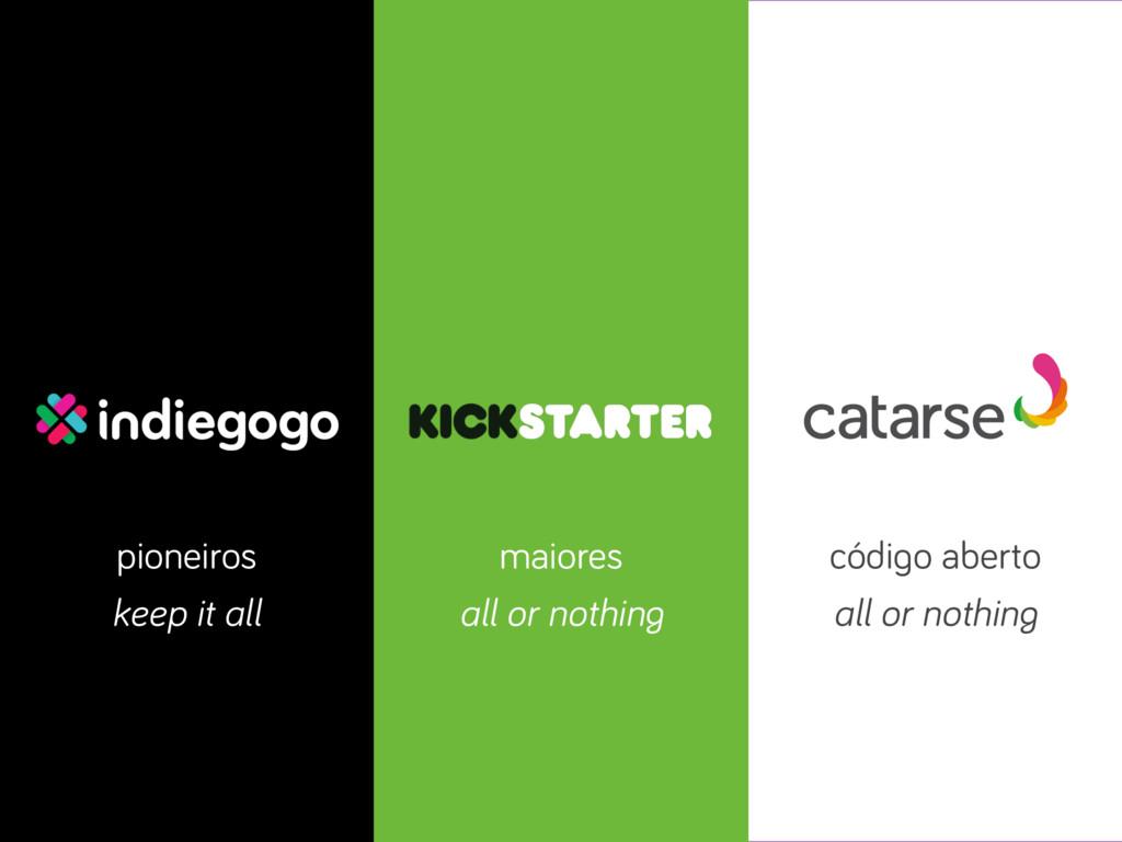 pioneiros maiores código aberto all or nothing ...