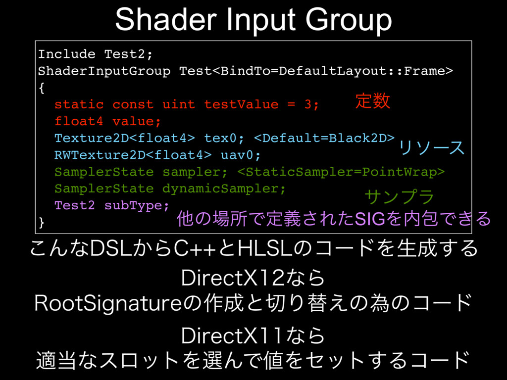 Shader Input Group Include Test2; ShaderInputGr...