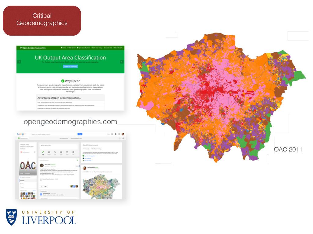 OAC 2011 Critical Geodemographics opengeodemogr...