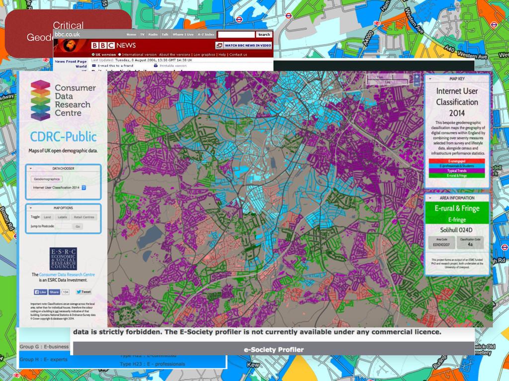 Critical Geodemographics