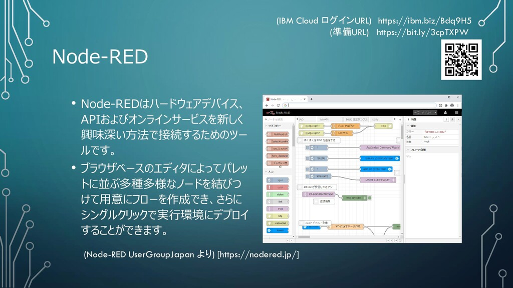Node-RED • Node-REDはハードウェアデバイス、 APIおよびオンラインサービス...
