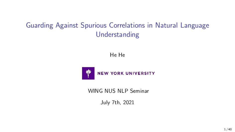 Guarding Against Spurious Correlations in Natur...