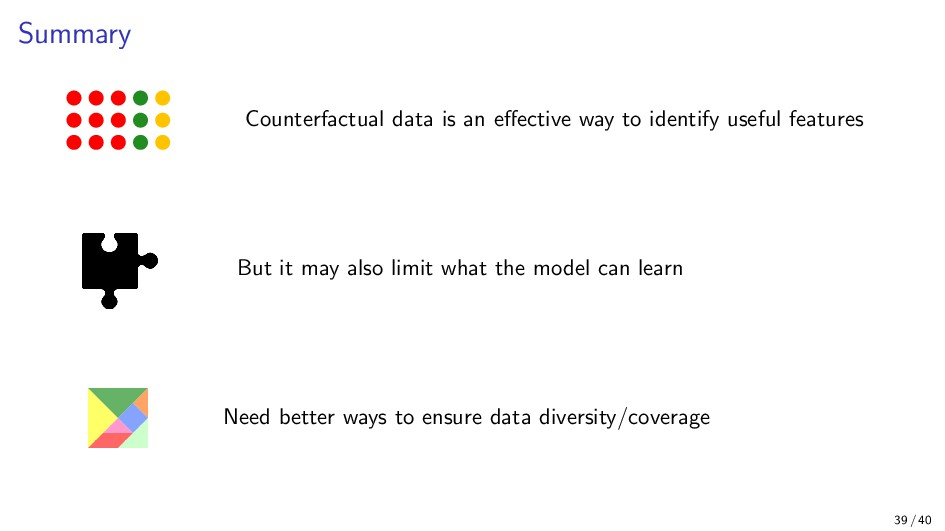 Summary Counterfactual data is an effective way ...