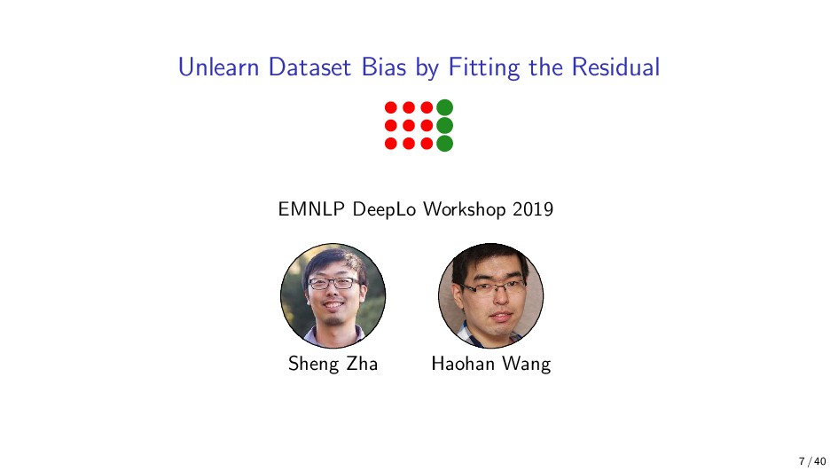 Unlearn Dataset Bias by Fitting the Residual EM...