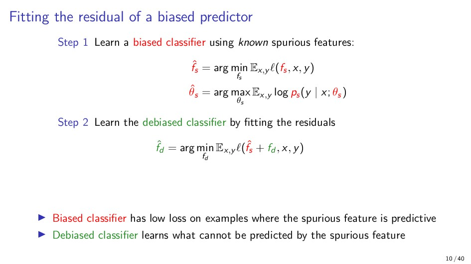 Fitting the residual of a biased predictor Step...