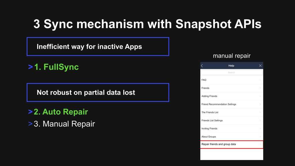 3 Sync mechanism with Snapshot APIs Inefficient...