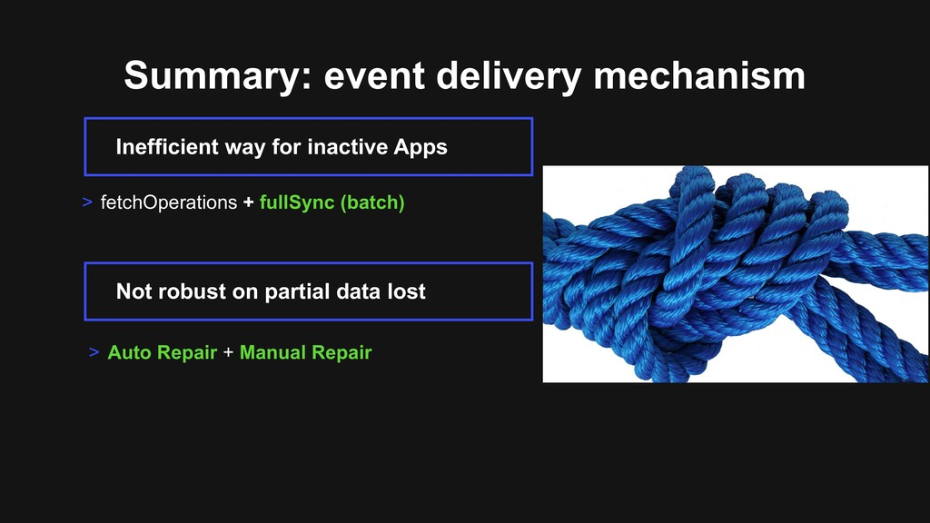 Summary: event delivery mechanism > Auto Repair...
