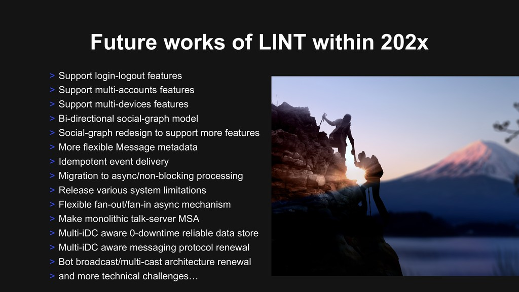 Future works of LINT within 202x > Support logi...