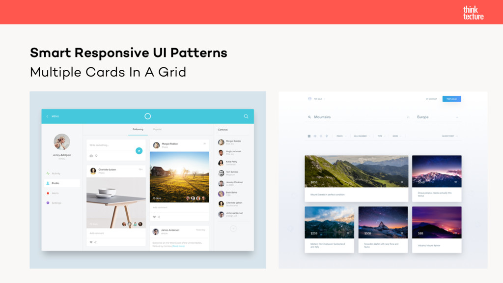 Multiple Cards In A Grid Smart Responsive UI Pa...