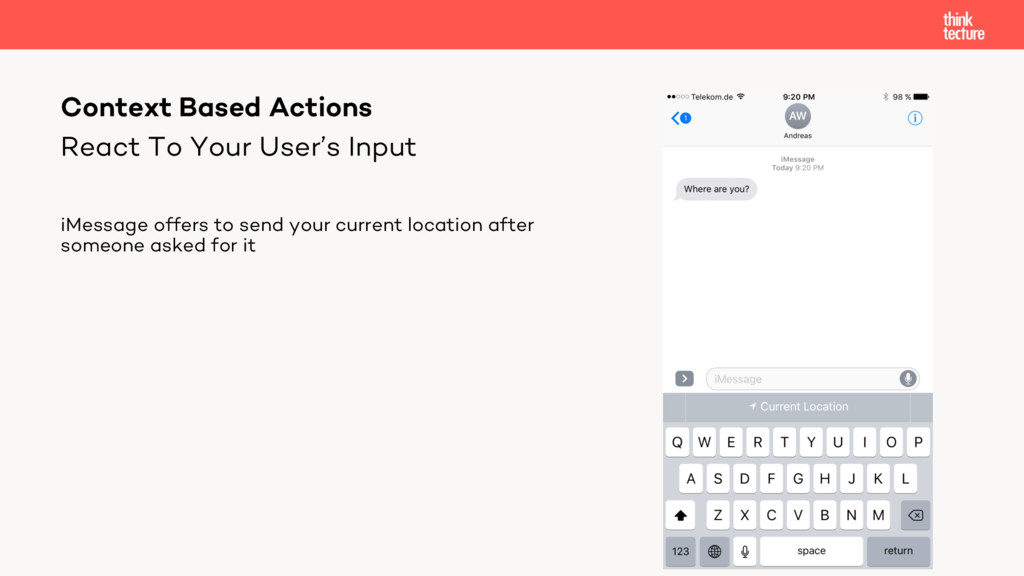 React To Your User's Input iMessage offers to s...