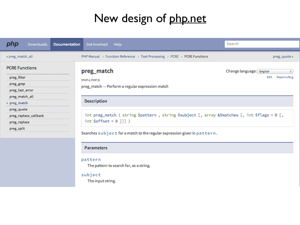 New design of php.net