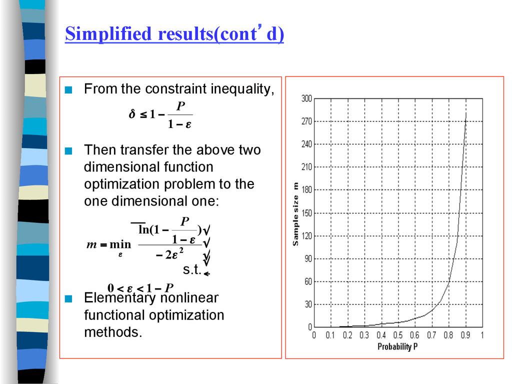Simplified results(cont'd) ■ From the constrai...
