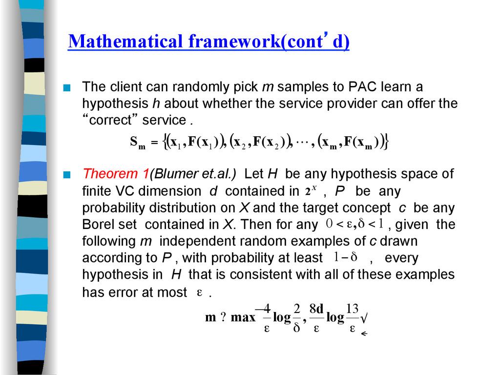 Mathematical framework(cont'd) ■ The client ca...