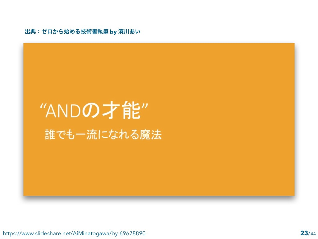 /44 23 https://www.slideshare.net/AiMinatogawa/...