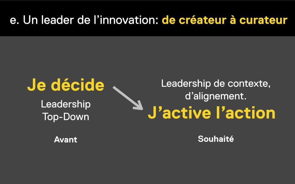 e. Un leader de l'innovation: de créateur à cur...