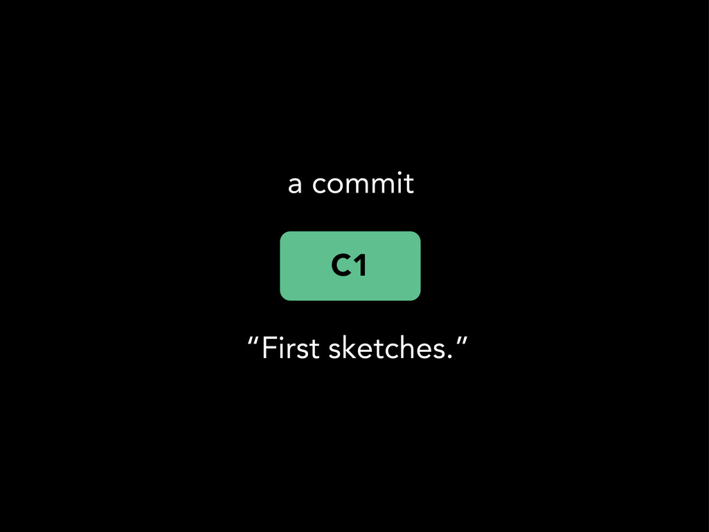 """C1 a commit """"First sketches."""""""