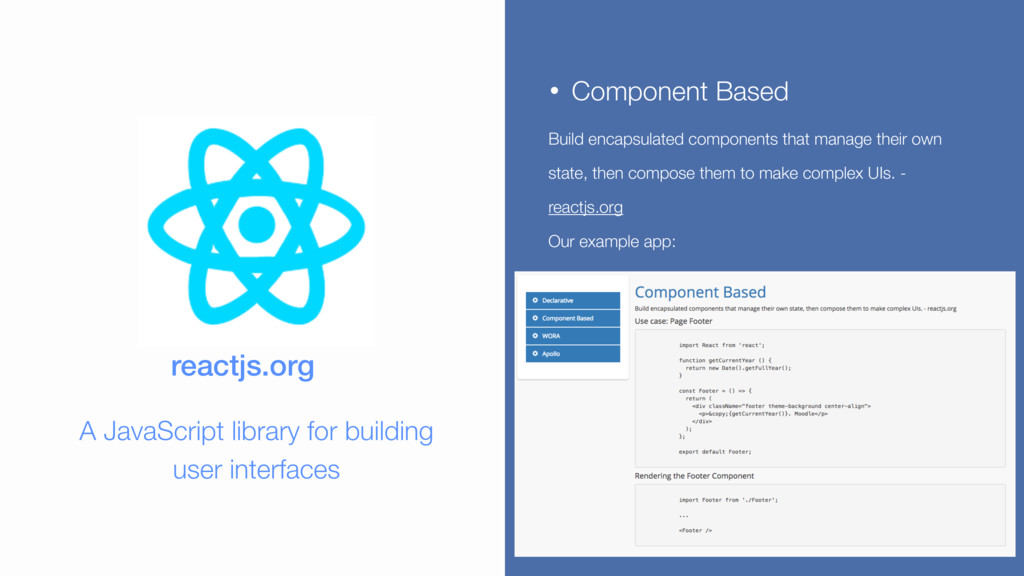 • Component Based Build encapsulated components...