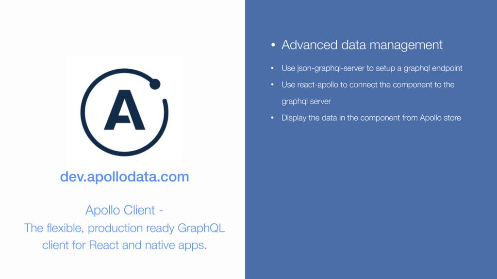 dev.apollodata.com Apollo Client - The flexible...