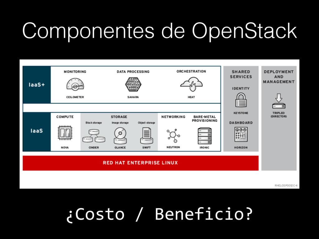 Componentes de OpenStack ¿Costo / Beneficio?