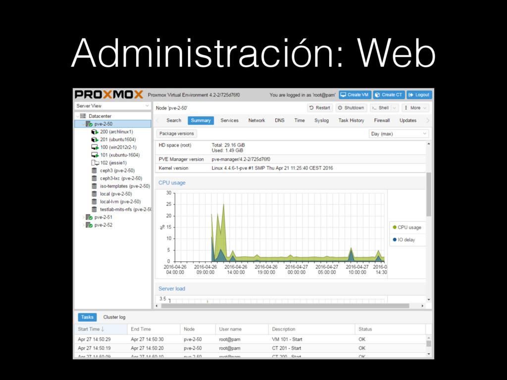 Administración: Web