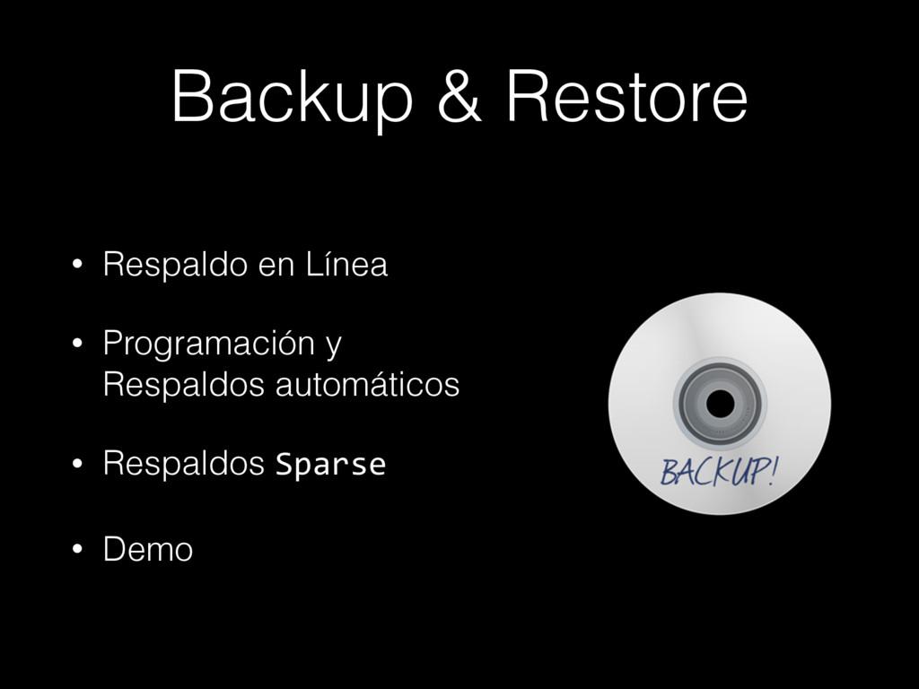 Backup & Restore • Respaldo en Línea • Programa...