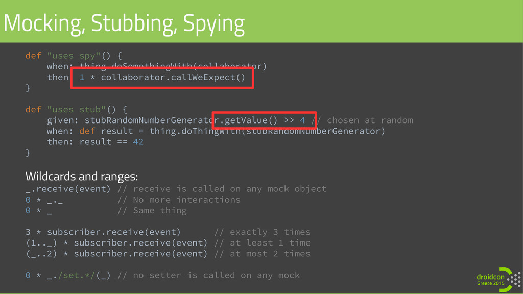 "def ""uses spy""() { when: thing.doSomethingWith(..."