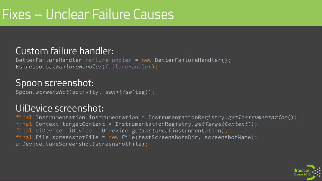 Custom failure handler: BetterFailureHandler fa...